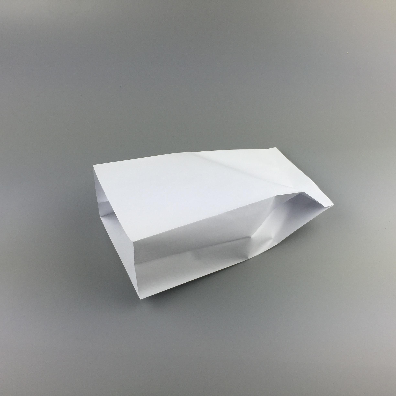 Air sickness bag with sharp bottom