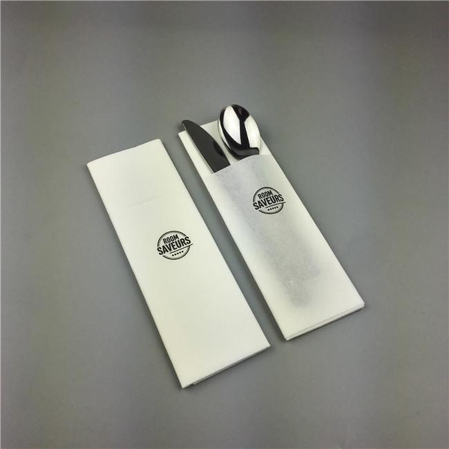 Air-laid cutlery pouch